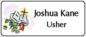 Church Name Badges by e-Badge Design